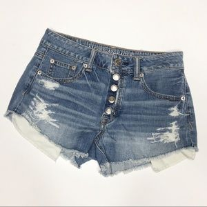 american eagle high rise festival denim jean short